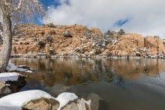 Sceniczny Watson zimy Jeziorny krajobraz Obraz Stock