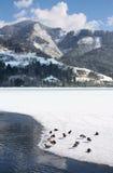 Sceniczny widok ścieżka wokoło jeziora Obrazy Stock