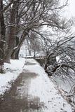 Sceniczny widok ścieżka wokoło jeziora, Zeller Widzii, Zell Zdjęcia Stock