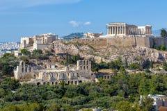 Sceniczny widok akropol Ateny, Grecja Obraz Royalty Free