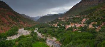 Sceniczny widok atlant Maroko fotografia royalty free