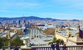 Sceniczny widok Barcelona Catalonia Obrazy Royalty Free