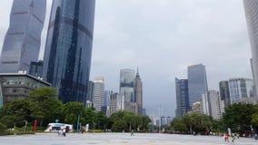 Sceniczny widok biznesowy śródmieście w Guangzhou zbiory wideo