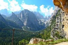 Sceniczny widok góra dolomity w Włochy Obraz Royalty Free
