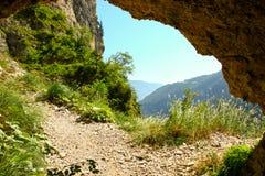 Sceniczny widok góra dolomity w Włochy od arki Obrazy Stock