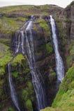 Sceniczny widok Glymur siklawa - po drugie wysoka siklawa o Obraz Stock