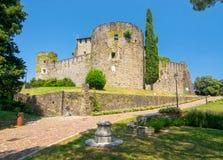 Sceniczny widok historyczny kasztel w Gorizia, Włochy zdjęcie stock