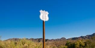 Sceniczny widok historyczny trasy 66 znak Zdjęcie Royalty Free