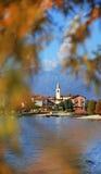 Sceniczny widok Isola dei Pescatori na Lago Maggiore, Północny Włochy, Europa Fotografia Stock