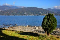 Sceniczny widok Isola dei Pescatori na Lago Maggiore, Północny Włochy, Europa Obraz Stock