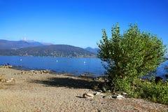 Sceniczny widok Isola dei Pescatori na Lago Maggiore, Północny Włochy, Europa Obraz Royalty Free