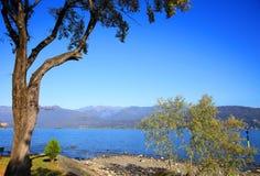 Sceniczny widok Isola dei Pescatori na Lago Maggiore, Północny Włochy, Europa Fotografia Royalty Free