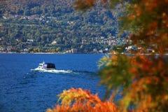Sceniczny widok Isola Madre na Lago Maggiore, Północny Włochy, Europa Obraz Stock
