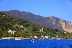 Sceniczny widok Isola Madre na Lago Maggiore, Północny Włochy, Europa Obrazy Royalty Free