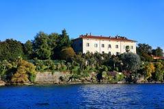 Sceniczny widok Isola Madre na Lago Maggiore, Północny Włochy, Europa Obrazy Stock