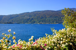 Sceniczny widok Isola Madre na Lago Maggiore, Północny Włochy, Europa Zdjęcie Royalty Free