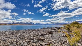 Sceniczny widok Jeziorny Tekapo fotografia stock