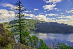 Sceniczny widok klon zatoka w Vancouver wyspie, BC fotografia stock