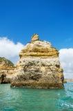 Sceniczny widok linia brzegowa krajobraz w Lagos, Algarve, Portugalia obraz stock