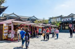 Sceniczny widok ludzie Yunnan narodowości wioska która lokalizuje przy Kunming Yunnan, może być widzieć badać wokoło go Fotografia Stock