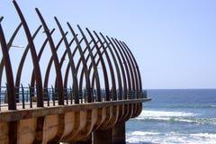 Sceniczny widok molo Przy Umhlanga Kołysa Durban Południowa Afryka Obrazy Stock