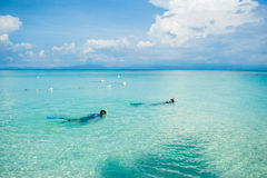Sceniczny widok morze Przeciw niebu Obraz Royalty Free
