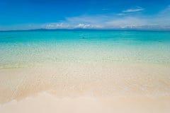 Sceniczny widok morze Przeciw niebu Obrazy Royalty Free