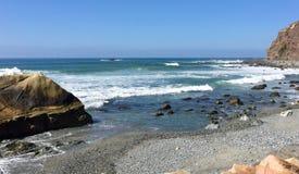 Sceniczny widok na ocean przy Dana punktem w Kalifornia zdjęcie stock