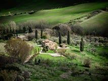 Sceniczny widok nad krajobrazami od ścian Montepulciano, Zdjęcia Royalty Free