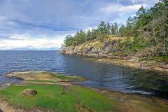 Sceniczny widok ocean od Jack punktu parka w Nanaimo, BC, Ca fotografia stock