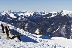 Sceniczny widok od Wallberg góry, Niemcy Obrazy Stock