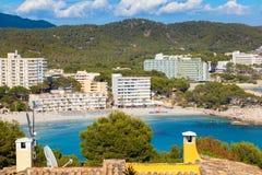 Sceniczny widok Paguera plaża w Majorca zdjęcie stock