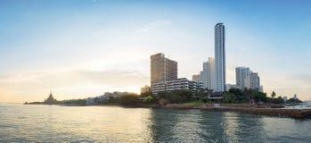 Sceniczny widok Pattaya miasto w Tajlandia zdjęcie stock