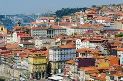 Sceniczny widok Porto miasto Zdjęcia Royalty Free