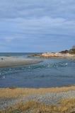 Sceniczny widok przypływy i wpust w Cohasset Massachusetts obraz stock