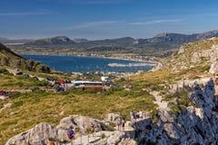 Sceniczny widok Puerto De Pollensa, Mallorca obraz stock