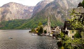 Sceniczny widok sławna Hallstatt górska wioska w austriaku Obraz Royalty Free