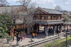 Sceniczny widok Stary miasteczko Lijiang Obraz Stock