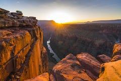 Sceniczny widok Toroweap przegapia przy wschodem słońca w północnym obręczu, uroczystym Obraz Stock