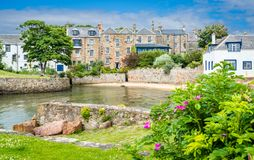 Sceniczny widok w Anstruther w lata popołudniu, piszczałka, Szkocja obrazy royalty free