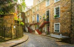 Sceniczny widok w Edynburg starym miasteczku, Szkocja zdjęcie royalty free