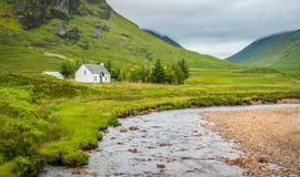 Sceniczny widok w Glencoe, w Lochaber terenie Szkoccy średniogórza zdjęcia stock