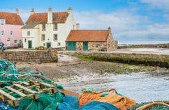 Sceniczny widok w Pittenweem, w piszczałce, na wschodnim wybrzeżu Szkocja zdjęcia royalty free