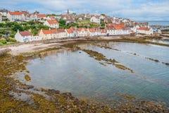 Sceniczny widok w Pittenweem, w piszczałce, na wschodnim wybrzeżu Szkocja zdjęcie stock