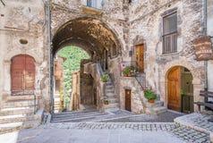 Sceniczny widok w Scanno, prowincja L ` Aquila, Abruzzo, środkowy Włochy fotografia royalty free