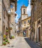Sceniczny widok w Scanno, prowincja L ` Aquila, Abruzzo, środkowy Włochy zdjęcia stock