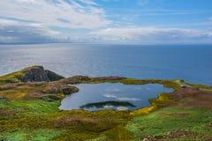 Sceniczny widok w Slieve liga, okręg administracyjny Donegal, Irlandia fotografia royalty free