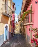 Sceniczny widok w Tagliacozzo, prowincja L ` Aquila, Abruzzo, Włochy zdjęcie stock