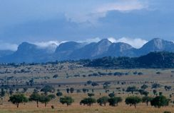 Sceniczny widok w Uganda. zdjęcie royalty free