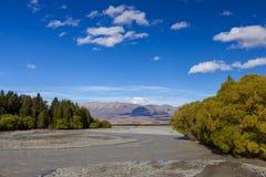 Sceniczny widok Waitaki rzeka obraz stock